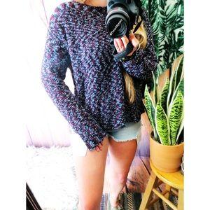 Sweaters - Soft plush confetti knit slouchy sweater 🌜